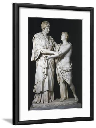 Sculptural Group of Electra and Orestes, Roman Copy of the Hellenistic Original--Framed Giclee Print