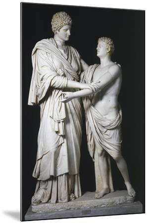 Sculptural Group of Electra and Orestes, Roman Copy of the Hellenistic Original--Mounted Giclee Print