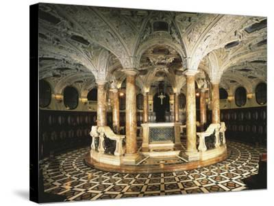 Italy, Milan Cathedral, Circular Crypt--Stretched Canvas Print
