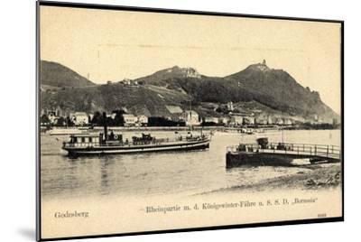 Godesberg Bonn, Königswinter Fähre S.S.D. Borussia--Mounted Giclee Print
