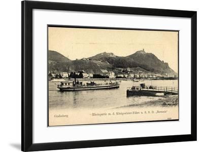 Godesberg Bonn, Königswinter Fähre S.S.D. Borussia--Framed Giclee Print