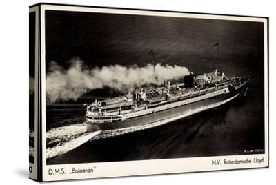 Rotterdamsche Lloyd, Krl, D.M.S. Baloeran, Dampfer--Stretched Canvas Print