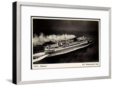 Rotterdamsche Lloyd, Krl, D.M.S. Baloeran, Dampfer--Framed Giclee Print