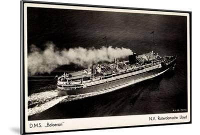 Rotterdamsche Lloyd, Krl, D.M.S. Baloeran, Dampfer--Mounted Giclee Print