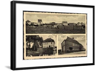 Köln Dünnwald, Haus Haan, St. Josef, Rinderherde Auf Dem Feld--Framed Giclee Print