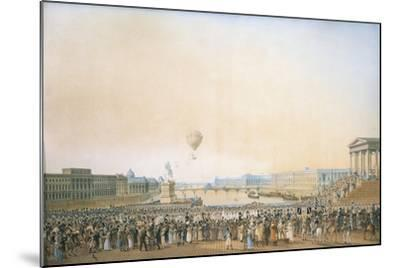 France, Versailles, Arrival of Louis XVIII, the Crossing of the Pont Neuf--Mounted Giclee Print