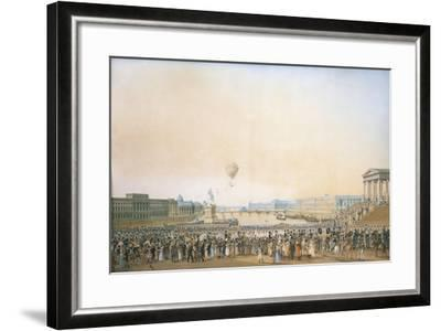 France, Versailles, Arrival of Louis XVIII, the Crossing of the Pont Neuf--Framed Giclee Print