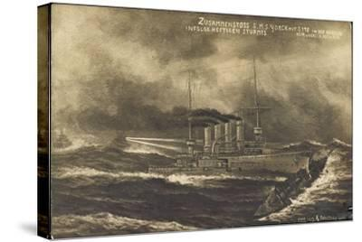 Künstler S.M.S. Yorck, S 178, Zusammenstoß, Sturm--Stretched Canvas Print