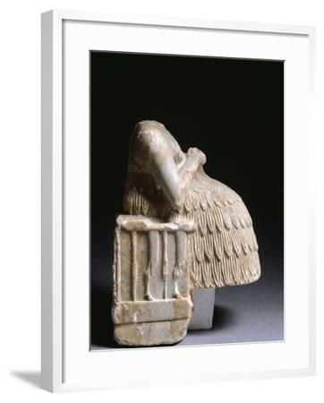 Seated Female Figure, Artefact from Tell Aswad, Syria--Framed Giclee Print