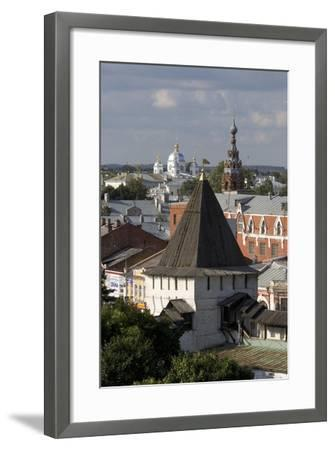 Russia, Yaroslavl, Townscape with Churches and Rooftops--Framed Giclee Print