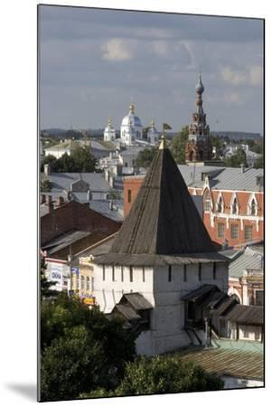 Russia, Yaroslavl, Townscape with Churches and Rooftops--Mounted Giclee Print