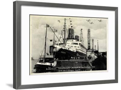 Bremerhaven, Norddeutscher Lloyd, Dampfer Europa--Framed Giclee Print