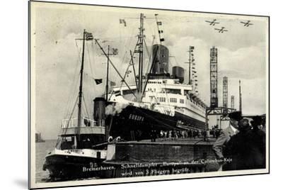 Bremerhaven, Norddeutscher Lloyd, Dampfer Europa--Mounted Giclee Print