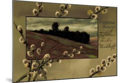 Präge Künstler Mailick Frohe Ostern, Kätzchen, Feld--Mounted Giclee Print