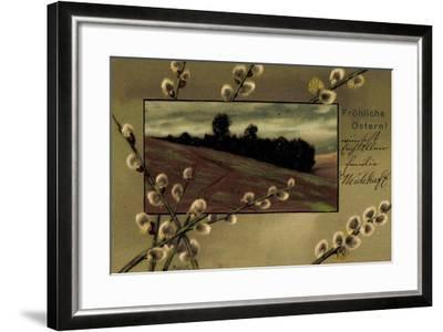 Präge Künstler Mailick Frohe Ostern, Kätzchen, Feld--Framed Giclee Print