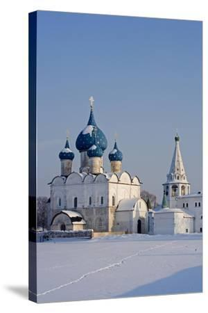 Russia, Golden Ring, Sudzal, Cathedral of Nativity of Virgin--Stretched Canvas Print