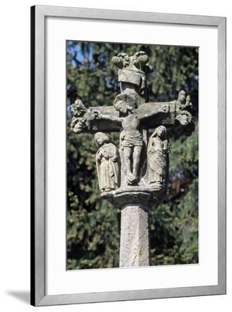 The Crucifixion, Detail from Monument Cross, Arlempdes, Auvergne--Framed Giclee Print