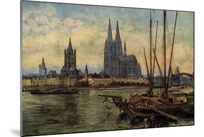 Künstler Rüdell, K., Köln Rhein, Blick Zum Dom,Boote--Mounted Giclee Print