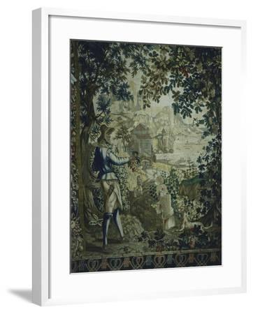Autumn, Detail of 18th Century Gobelins Tapestry Depicting the Seasons--Framed Giclee Print