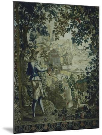 Autumn, Detail of 18th Century Gobelins Tapestry Depicting the Seasons--Mounted Giclee Print