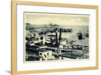 Komarno Ukraine, Donauansicht Mit Häfen, Schiffe--Framed Giclee Print