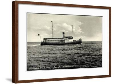Dampfer Nordfriesland, Wyker Dampfschiffs Reederei--Framed Giclee Print