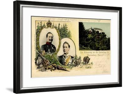 Litho Blankenburg Harz, Erinnerung an Die Kaisertage--Framed Giclee Print