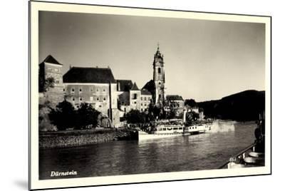Dürnstein Niederösterreich, Blick Ü. Wasser, Dampfer--Mounted Giclee Print