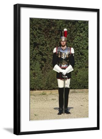 Italy, Corazzieri Soldier in Uniform at Cuirassiers Gala--Framed Giclee Print