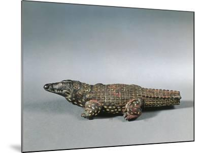 Bronze and Nielloed Electrum Crocodile Figure, from Faiyum, Middle Kingdom--Mounted Giclee Print