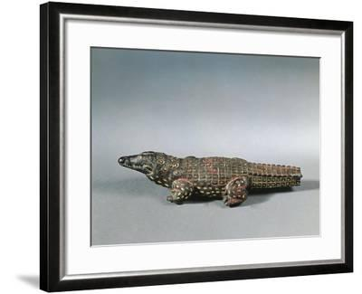 Bronze and Nielloed Electrum Crocodile Figure, from Faiyum, Middle Kingdom--Framed Giclee Print