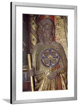 Holy Apostle, Wooden Relief from the Upper Chapel of the Holy Chapel, Paris, Ile-De-France, France--Framed Giclee Print