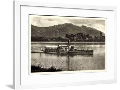 Herreninsel Chiemsee, Dampfer Ludwig Fessler--Framed Giclee Print