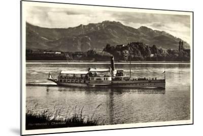 Herreninsel Chiemsee, Dampfer Ludwig Fessler--Mounted Giclee Print