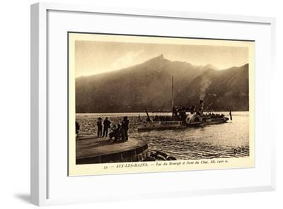 Aix Les Bains, Lac Du Bourget, Hautecombe, Dampfer--Framed Giclee Print