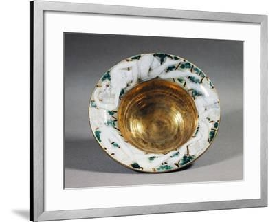 Art Deco Style Majolica Cup with Golden Interior and Female Figures Decoration, France--Framed Giclee Print