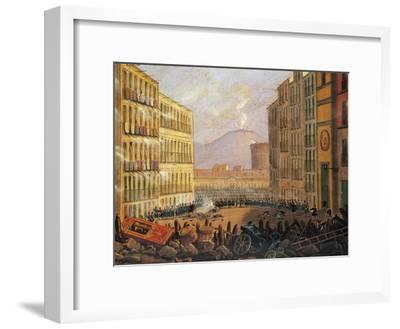 Barricades in Via Santa Brigida in Naples, May 15, 1848--Framed Giclee Print
