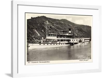 Dampfer Rheingold, FlUSS Rhein, Köln Düsseldorf--Framed Giclee Print