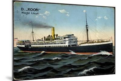 Dampfer Roon, Norddeutscher Lloyd Bremen--Mounted Giclee Print