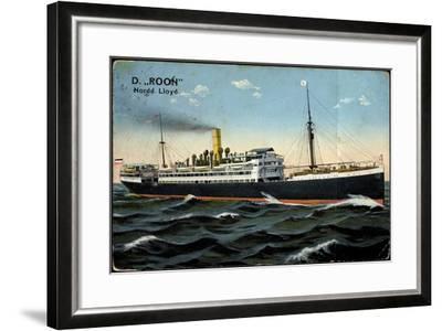 Dampfer Roon, Norddeutscher Lloyd Bremen--Framed Giclee Print