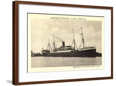 Norddeutscher Lloyd Bremen, Dampfer Main--Framed Giclee Print