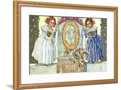 Künstler Ganzsachen Diez, Prinzregent Luitpold,Kind--Framed Giclee Print