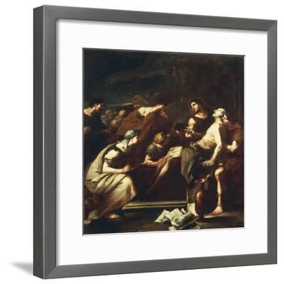 Seneca Dying, Luca Giordano--Framed Giclee Print