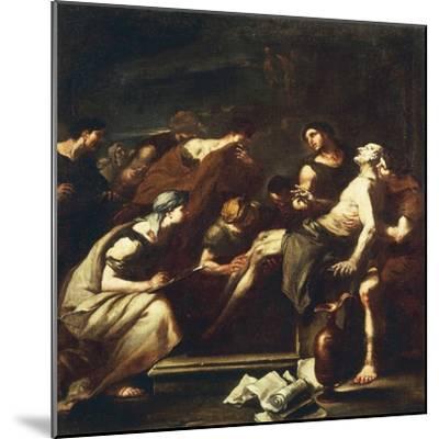 Seneca Dying, Luca Giordano--Mounted Giclee Print