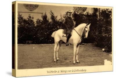 König Wilhelm II Von Württemberg Zu Pferd--Stretched Canvas Print