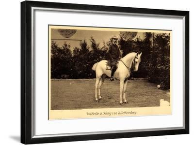 König Wilhelm II Von Württemberg Zu Pferd--Framed Giclee Print