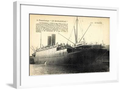 Le Havre, Transatlantique, Le Rochambeau, Cgt--Framed Giclee Print