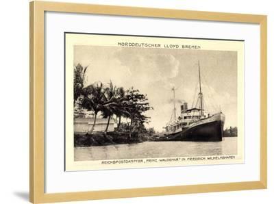 Norddeutscher Lloyd Bremen, Dampfer Prinz Waldemar--Framed Giclee Print