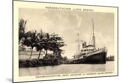 Norddeutscher Lloyd Bremen, Dampfer Prinz Waldemar--Mounted Giclee Print