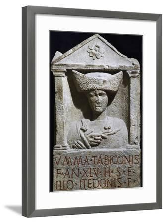 Funerary Stele of Umma in Pannonian Costume from Au Am Leithaberg, Austria--Framed Giclee Print